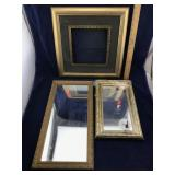 1 Picture Frame and 2 Framed Mirrors