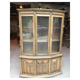 Vintage 2 Piece Solid Pecan Hutch