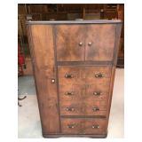 Vintage Burl Wood Armoire