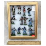 Vintage Hand Painted Tin Soldiers in Case