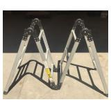 Folding 12ft Aluminum Step Ladder by Pal System