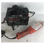 Battery charger and tool light