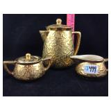 McCoy 24 karat gold embossed tea set