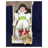 Seymour Mann Christmas Porcelain Doll