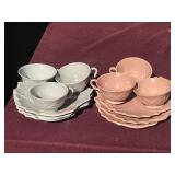 2 Sets of Wood Steubenville Ceramic Leaf Snack