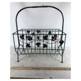 Wrought iron bin