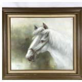 White Horse Original oil painting