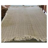 2 Off White Fringed Hand Crocheted bedspreads