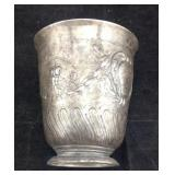 Antique French pewter cup