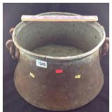 Vintage copper pot with Iron handles