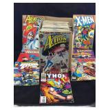 Vintage 1990s action hero comics