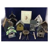 Assortment of Decorative Birdhouses Plus