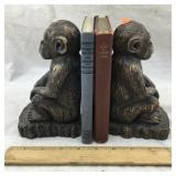 Chimpanzee Bookends with Two Books