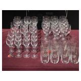 12 Setting Mikasa Crystal Wine & Cordial Glasses