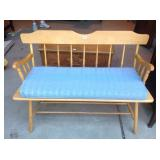 Maple bench with cushion