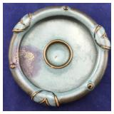 Low Blue Porcelain Art Bowl