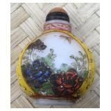 Yellow Floral Snuff Bottle