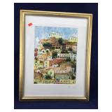 Signed Berman Print of Pozitano (Italy)