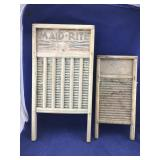 Pair of Old Wooden Washboards