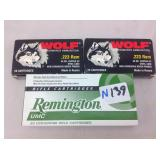 Wolf and Remington 223 ca ammo