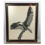 Framed Brandt Carter Eagle Lithograph