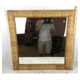 Large Wicker Framed Mirror