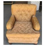 Vintage Upholstered Chair with Floral Designs