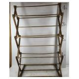 Vintage Wooden Folding Drying Rack