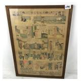 Framed 1925 Newspaper Cartoons