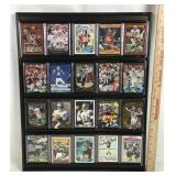 20 NFL Cards in Sports Card Display