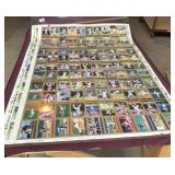 Uncut Sheets of Topps Football & Baseball Cards
