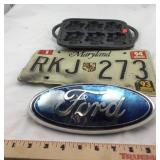 Cast Iron. MD Plate. Ford Vehicle Insignia