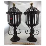 Pair of Metal plant Holders. 22 in high