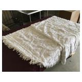 Twin Size White Chenille-type Bedspread