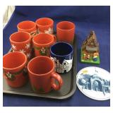 German Mugs and Little Wooden Bank Plus