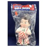 Unopened Vintage Vinyl Big Boy Doll Bank