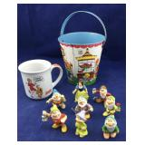 Snow White and Dwarfs,Pail, Annie mug..