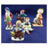 5 Small Hand Painted Made in Japan Statues