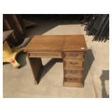 oak  sewing machine cabinet with no sewing machine