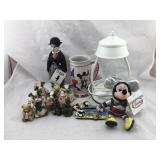 Mickey Mouse Items, Charlie Chaplin Figure