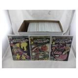 Box of Vintage Spider-Man Comic Books
