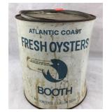 Vintage Booth One Gallon Oyster Can