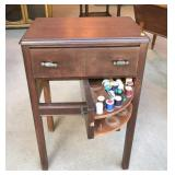 Sewing Cabinet with Contents
