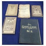 Antique and Vintage Gospel and Revival Music Books