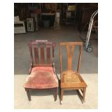 East Lake Style Chair and Oak Rocking Chair