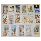 Set of 17 Vintage Original Cigarette Cards