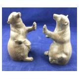 Heavy Metal Bear Bookends