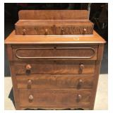 Vintage Wooden Two Over Four Dresser