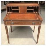 Leather Inlaid Spinet Desk