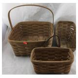 Three Longaberger Baskets